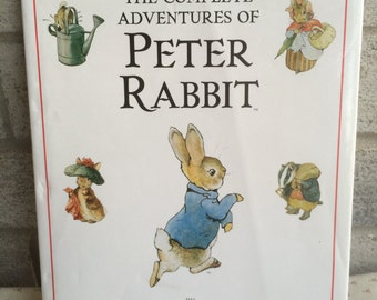 The Complete Adventures of Peter Rabbit by Beatrix Potter, 1987 Vintage Peter Rabbit book