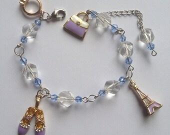 Bracelet Crystal,Beads & Charms