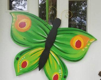 Giant Green Butterfly 3D door hang