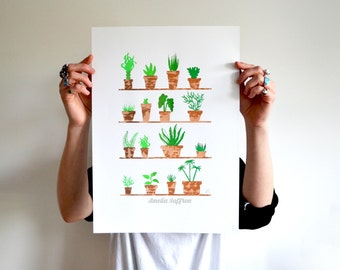 Potted Plants, Screen Prints