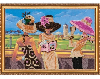 "The kit for a Embroidery with beads by ABRIS ART  ""At the Race Track -2"""