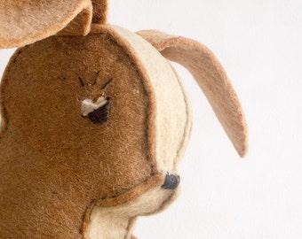 Vintage felt kangaroo or rabbit