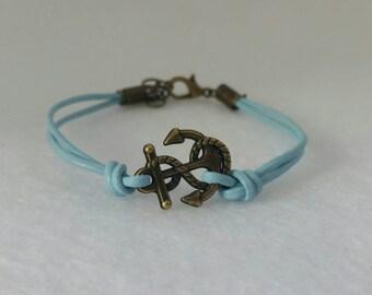 Bronze Anchor adjustable bracelet.