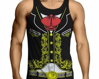 Mariachi Charro Tank Top Mens T-Shirt