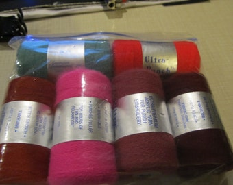 6 New Ultra Punch Needle Embroidery Thread (Assorted Colors)