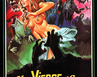 A Virgin Among The Living Dead Movie POSTER RARE Horror Zombies