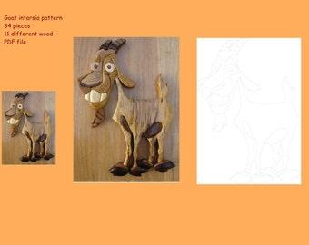 Goat intarsia pattern