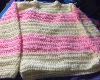 crochet pull over sweater