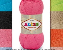 Bamboo Fine Alize yarn, 100% natural, fingering weight, fine, 3-4ply, 16wpi, smooth, soft, pleasant to the touch, with a slight sheen yarn.