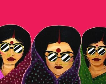 Sisterhood of travelling Saris Poster