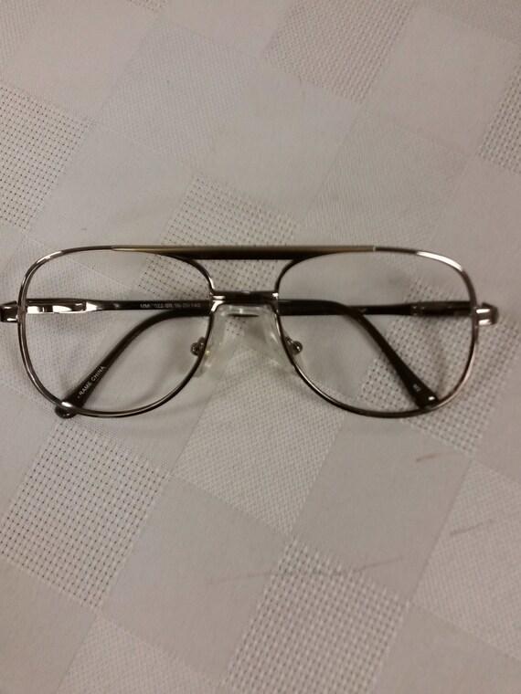 Aviator Eyeglasses Frame : 1980s Aviator Square Eyeglasses Frame w/Strap by ...