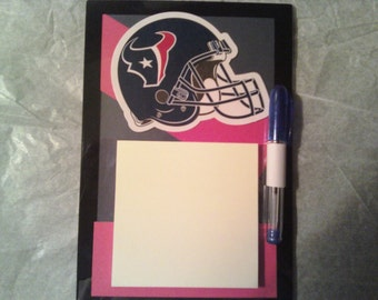 Houstan Texans magnetic Post it Note holder with pen