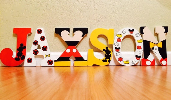 mickey mouse letters items similar to mickey mouse letter painted 23637
