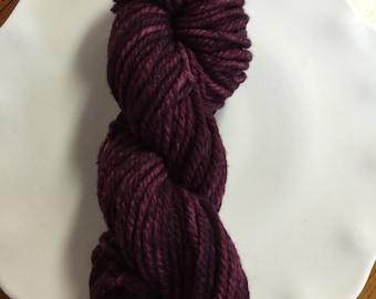 Maroon Merino Wool Hand Dyed Yarn