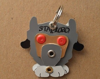 Star Lord Helmet Pet Tag Dog ID Metal Comic Book Marvel Super Hero