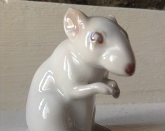 Rosenthal White Mouse/ Made In Germany. 1957 model.