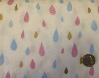 Rain drops double gauze Fabric Japanese Import