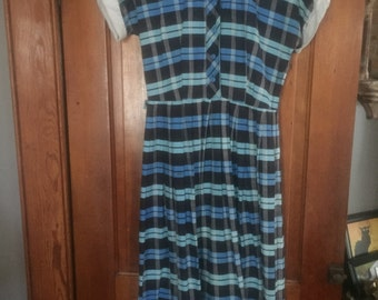 Vintage 50s House dress Size M
