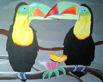 Two Toucans Before the Rain free shipping in USA