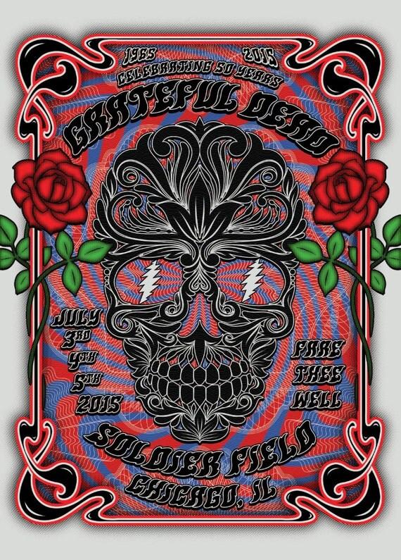 Grateful Dead Tour Poster High Quality