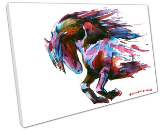 Watercolour HORSE Canvas WALL ART C2154