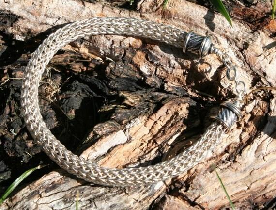 Sterling Silver Viking Knit Bracelet (SK)