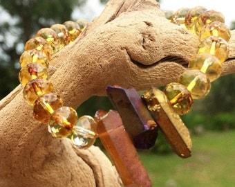 Yellow stacking bracelet