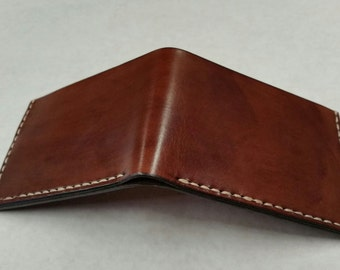 Custom Cajun Four Pocket Wallet In Brown Leather Stained - Every Day Carry - Proudly Made In The USA! - Handmade By Cajun Leather Works