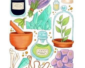Witch Goods - Art Print