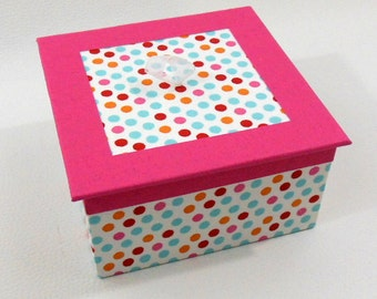 Multicolor and graphic - multicolor dots jewelry box jewelry box