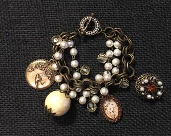 Vintage Bangle Charm Bracelet