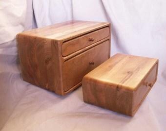 2 box set, a 2 drawer jewelry box with a companion box.