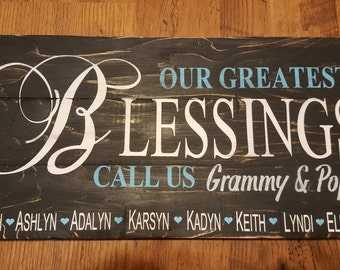Our Greatest Blessings Grandparents' Sign