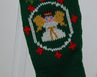 Christmas Stocking, Hand Knit