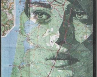 Portrait 22 bis - Entre Gironde et Landes. Impression sur papier marouflée sur panneau médium.