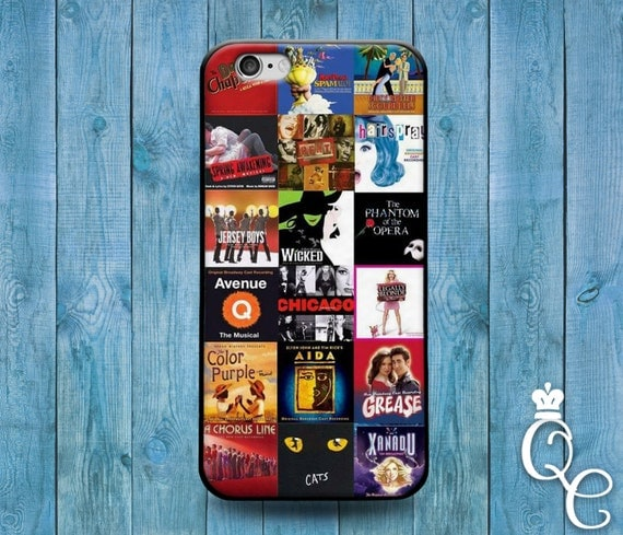 iPhone 4 4s 5 5s 5c SE 6 6s 7 plus iPod Touch 4th 5th 6th Generation Custom Famous New York Broadway Play Movie Collage Cover Cute Case