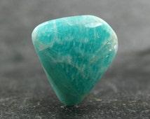Amazonite Designer Cabochon, Turquoise Color Peruvian Amazonite, Irridescent Gemstone Cabocohon, Shiller Effect Designer Focal Jewelry Stone