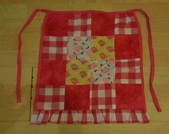 Hot pink patchwork apron/pinny