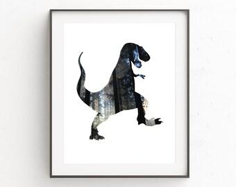 Dinsoaur Wall Art, Dinosaur Printable, T-Rex Print, Printable Art, Art for Boys, Dinosaur Decor, Trex Print, Dinosaur Art Print