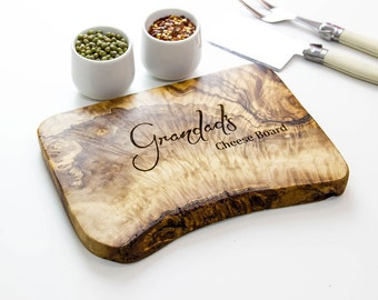 Personalized Rustic Cutting/Cheese Board - available in five sizes