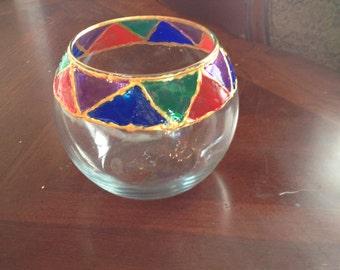 Stain Glass Handmade Bowl