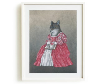 Adalwolfa giclée print
