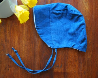 Sunbonnet/Baby Bonnet - Blue Chambray