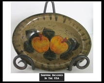 Redware Bowl Hand Painted Hecho en Mexico