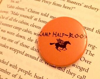 Camp Half-Blood pin | demigod button | percy jackson