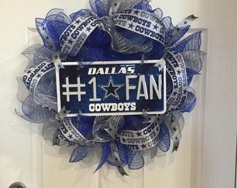 Dallas Cowboys Deco Mesh Wreath