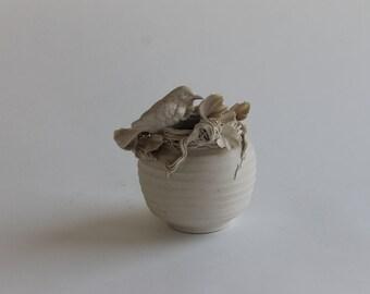 Bisque Spring Sculpture/Vase