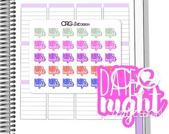 Date Night Stickers | Planner Erin Condren Plum Planner Filofax Sticker