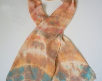Hand dyed Viscose Silk blend Scarf