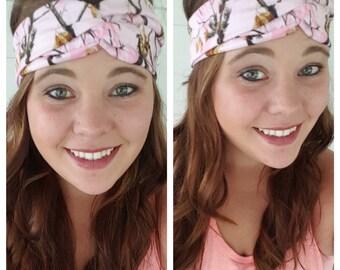 Realtree Pink Camo Headband, Hunting Headband
